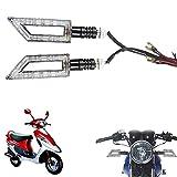 Vheelocityin Pointed Shape Motorcycle Bike Led Indicator For Tvs Scooty Pep Plus