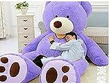 LOVESOUNDぬいぐるみ 特大 くま/テディベア 可愛い熊 動物 大きい くまぬいぐるみ/熊縫い包み/クマ抱き枕/お祝い/ふわふわぬいぐるみ (160cm, パープル)