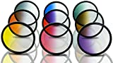 Opteka 72mm HD Multicoated Graduated Color Filter Kit For Digital SLR Cameras Includes: Red - Orange - Blue - Yellow - Green - Brown - Purple - Pink and Gray ND Filters