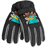 Phineas And Ferb - Boys Phineas And Ferb - Agent P Youth Ski Gloves Black