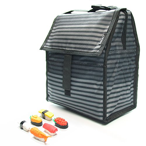 packit-personal-cooler-lunch-bag-gray-stripe-with-sushi-eraser