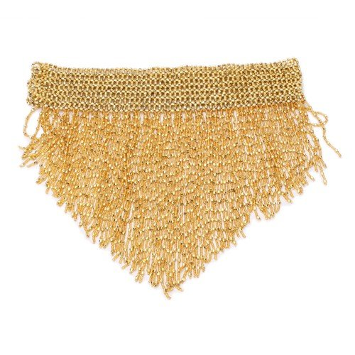 Belly Dancing Fashion Trendy Beaded Stretch Belt - Gold