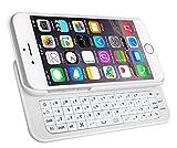 「realtime」iPhone6 Plus スライドキーボード  Bluetooth キーボード iPhone6 Plus ジャストフィット ワイヤレスキーボードケース一体型 5.5インチiPhone6専用  ホワイト
