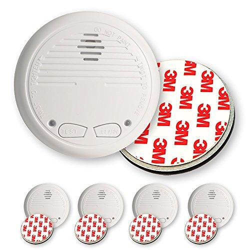 4 Nemaxx WL2 Funkrauchmelder Rauchmelder Brandmelder Set Funk koppelbar vernetzt - nach EN 14604 + 4x NX1 Quickfix Magnet