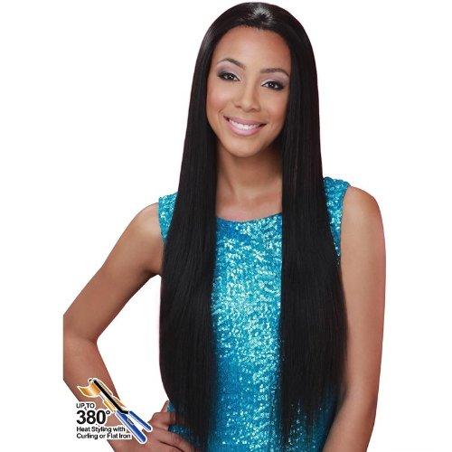 [Bobbi Boss Lace Front Wig - MLF-57 JASMINE (1B Off Black)] (Black Jasmine Wig)