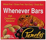 Pamelas Products Whenever Bars Oat Cranberry Almond, 5 Count Box, 7.05-Ounce (Pack of 6)