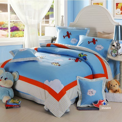 DIAIDI,Cute Cartoon Anime Bedding Sets,Kids Bedding ,Queen Size Bedding,4Pcs