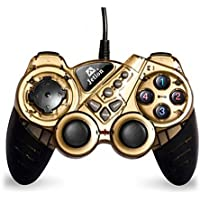 Dual Shock Wired USB Gamepad Controller For PC With Gripped Joysticks Ergonomic Design Vibration Force Feedback... - B00S879CUG