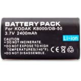 Neewer Two (2x) Rechargeable Li-on KLIC-8000 Batteries for Kodak Z1012 IS, Z1015 IS, Z1085 IS Z1485 IS, Z612, Z712 IS, Z812 IS, Z8612 IS