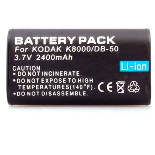 Neewer Two (2x) Rechargeable Li-on KLIC-8000 Batteries for Kodak Z1012 IS, Z1015 IS, Z1085 IS Z1485 IS, Z612, Z712 IS, Z812 IS, Z8612 IS
