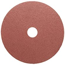"Weiler Tiger Resin Fiber Disc, Fiber Backing, Aluminum Oxide, 7/8"" Arbor, 4-1/2"" Diameter, 36 Grit,"