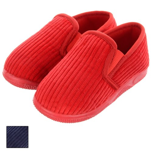 Childrens Comfy Easy Wear Full Cord Slippers With Cosy Lining & Non-Slip Sole