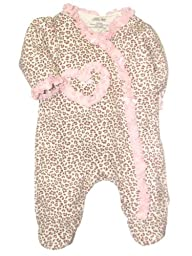 Girls Little Me Baby Leopard Footie b…