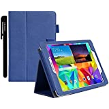 Samsung Galaxy Tab A Plus (9.7 inch) Case Cover Accessories - PU Leather Stand Folio Case Cover For Samsung Galaxy Tab A Plus 9.7 inch Tablet - Blue