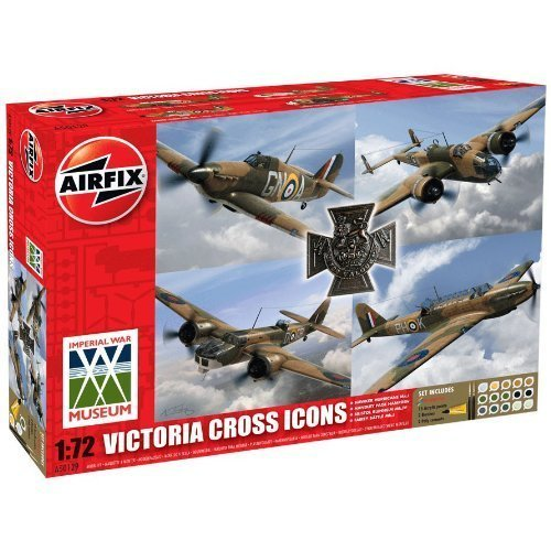 Airfix A50129 Victoria Cross Collection 1:72 Scale Plastic Model Gift Set by Airfix World War II Military Aircraft
