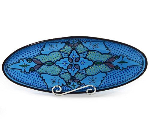 Le Souk Ceramique Extra Large Oval Platter, Sabrine Design
