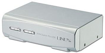 Lindy 32322 Switch KVM pro USB 2.0 audio DVI 2 ports avec câble combo pour Mac et PC