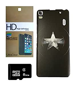Lenovo K3 Note MOCELL Printed Design Back Case Cover With 8 GB MEMORY CARD AND SCREEN GUARD Combo