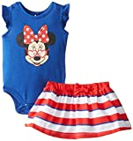Disney Baby Girls' 2-Piece Minnie Mouse Creeper with Skirt