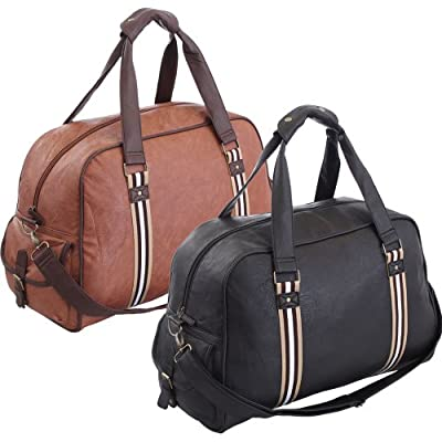 More4bagz Large Faux Leather Sports Gym Travel Golf Holdall Luggage Duffle Weekend Bag
