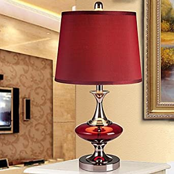 Modern Contemporary Table Lamp Bedside Lamp In Red Shade