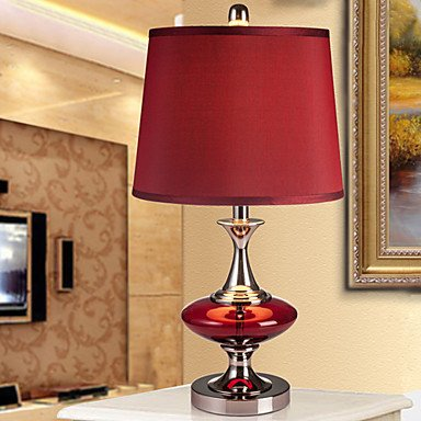 Rayshop Modern Contemporary Table Lamp Bedside Lamp In Red