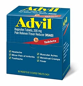 Advil Tablets Pain Reliever Refill,200 mg, 50 Two-Packs per Box