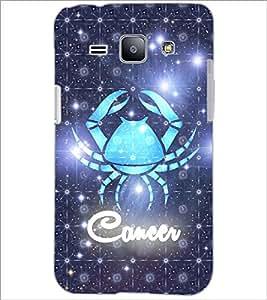 PrintDhaba Zodiac Cancer D-3243 Back Case Cover for SAMSUNG GALAXY J1 (Multi-Coloured)