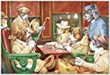 SMART ART - 'His Station and Four Aces ' by C.M. Coolidge - Fine Art Print 14x10 inches