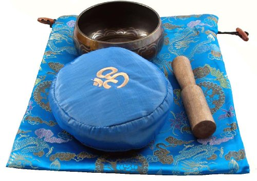 Singing Bowl Gift Set with a Blue Cushion and Blue Bag