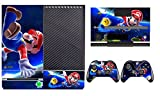 Mario Vinyl Decal Skin Sticker for Xbox One Console+ 2 Hand Controllers
