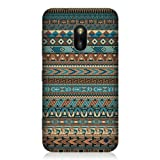 Head Case Designs Blue Amerindian Pattern Protective Back Case Cover for Nokia Lumia 620