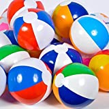 "Zeroyoyo 12"" Pool Party Beach Balls Colored Inflatable Ball Birthday Party Favors"