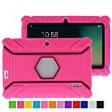 Turpro Shockproof Silicone Case for select 7-Inch Tablets - Hot Pink