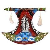 GATTS Radhaa Krishna with Peacock Beautiful Elegant Synthetic Fiber Wall Decor (14x18x1.5 Inch)