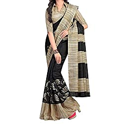RGR Enterprice Woman's Bhagalpuri Designer Saree (ARPIT GREY SAREE_Multi-Coloured_Free Size)
