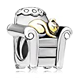Pugster Cat And Sofa Charm Bead