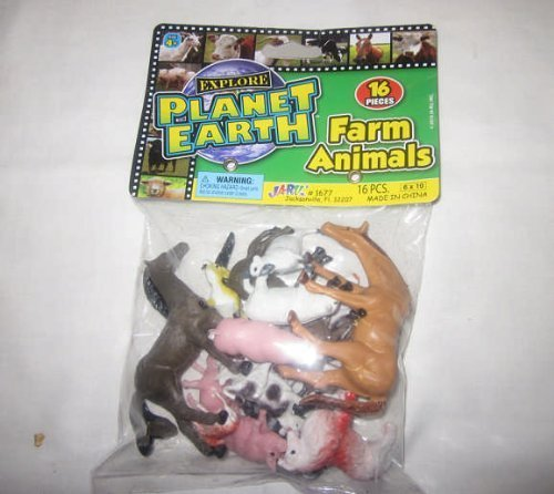 Ja-ru Planet Earth Farm Animals 16 Pieces Per Pack Ages 4 and Up