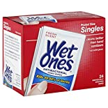 Wet Ones Hand Wipes, Antibacterial, Singles, Fresh Scent, 24 wipes