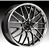 Drifz Vortex 18x8 Machined Black Wheel / Rim 5x112 & 5x4.5 with a 35mm Offset and a 73.00 Hub Bore. Partnumber 302MB-8805935