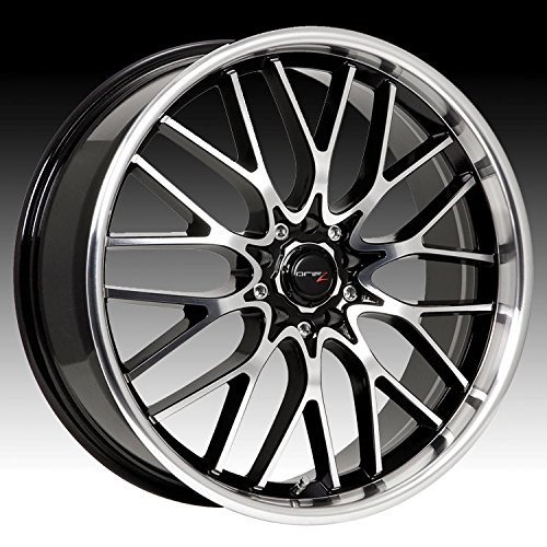 Drifz Vortex 17x7.5 Machined Black Wheel / Rim 5x100 & 5x4.5 with a 42mm Offset and a 73.00 Hub Bore. Partnumber 302MB-7751842 (2009 Mustang Rims compare prices)