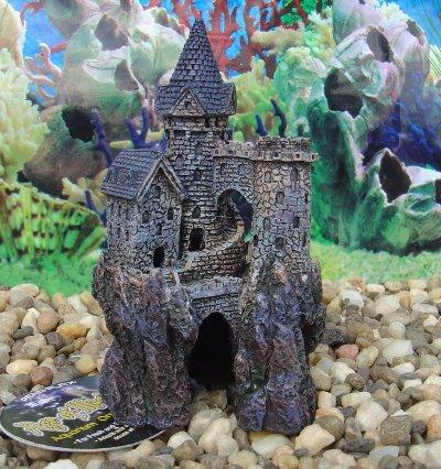 Age-of-Magic Aquarium Ornament/ Magical Castle - Sml.