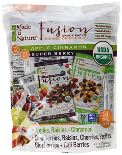 Made in Nature Organic Dried Fruit Snack Packs, 24 - 1-oz Individual Packages (Dried Organic Fruit compare prices)