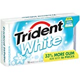 Trident White Sugar Free Gum, Wintergreen, 16-Piece Package (Pack of 9)