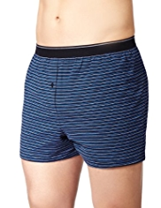 3 Pack Cool & Fresh™ Pure Cotton Fine Striped Boxers with StayNEW™