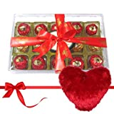 Box Of Happiness With Heart Pillow - Chocholik Luxury Chocolates