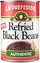 La Preferida Refried Black Beans Authentic 16-Ounce Pack of 12