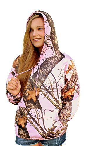 Mossy Oak Pink Hoodie Womens BU Pnk Camo Performance Hooded Sweatshirt