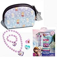 Disney Frozen Kids Accessory Set - Accessory Travel Bag, 4 Piece Jewelry Set And 18 Piece Hair Accessory Set