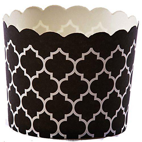 Simply Baked Large Paper Baking Cup, Black Quadrafoil, 240-Pack, Entertain with Ease and Style, Serve Cupcakes, Ice cream, Appetizers and More (Cone Cupcakes compare prices)